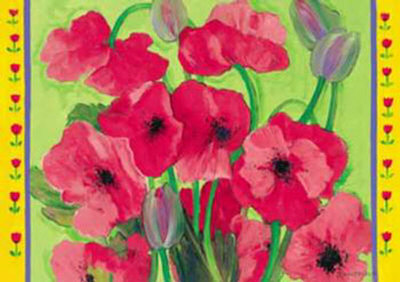 Intensiv Mohn Art Print