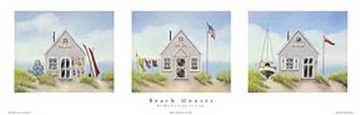 Beach Houses Prints by Karyn Frances Gray