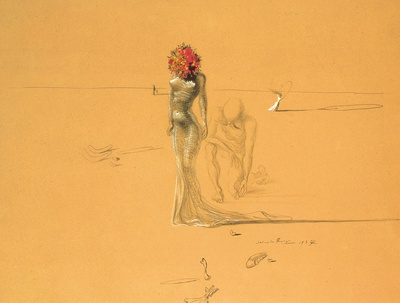 Female Figure with Head of Flowers, 1937 Posters by Salvador Dalí