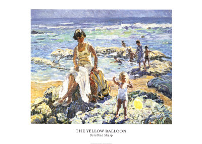 Yellow Balloon Poster by Dorthea Sharp
