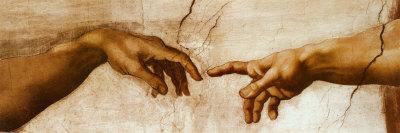 The Creation of Adam, c.1510 (detail) Prints by  Michelangelo Buonarroti
