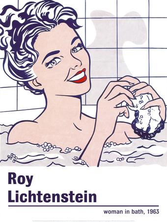 Woman in a Bath Plakater af Roy Lichtenstein