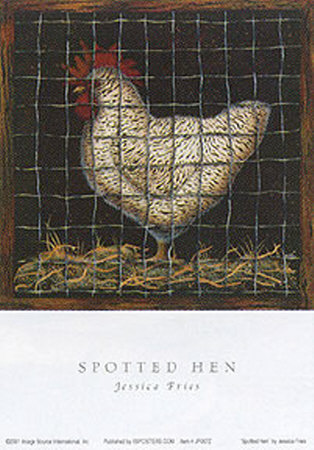 Spotted Hen Poster by Jessica Fries