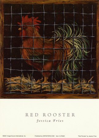 Big Red Rooster Posters by Jessica Fries