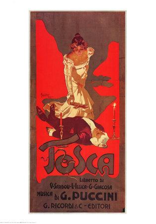 Puccini, Tosca Sanatsal Reprodüksiyon