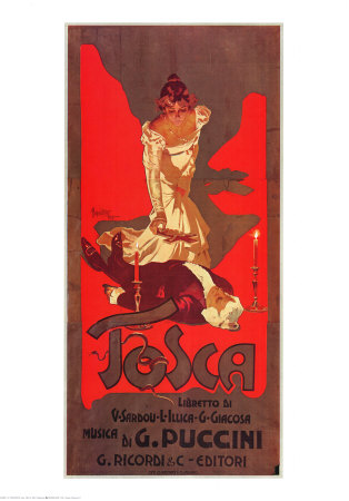 Puccini, Tosca Poster by Adolfo Hohenstein