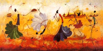 Dancers Poster af Kalidou Kassé