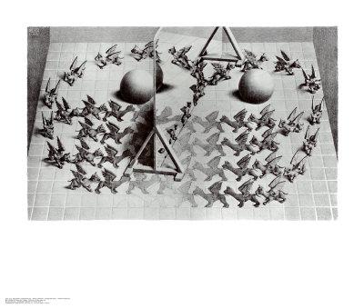Magic Mirror Poster by M. C. Escher