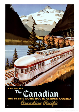Canadian Pacific Train Kunstdruk