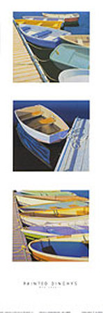 Painted Dinghies Art by Rob Brooks