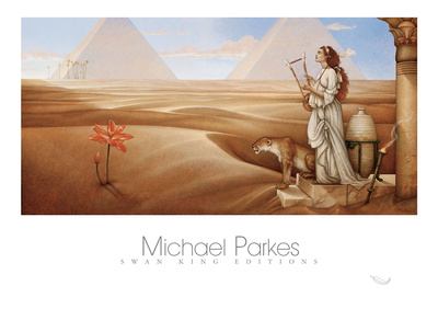 Desert Lotus Art by Michael Parkes