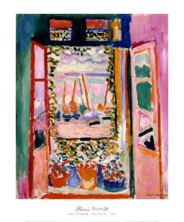 コリウールの開いた窓 1905年 高品質プリント : アンリ・マティス