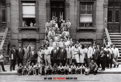 Portrait de jazz - Harlem, New York, 1958 Reproduction d'art