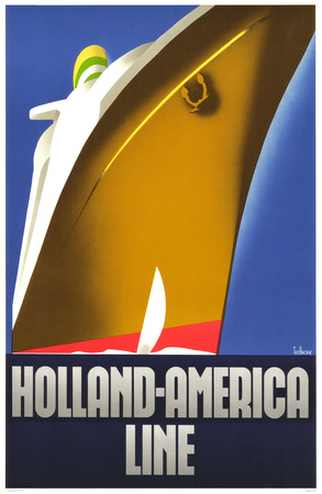 Holland-Amerika-Linie, 1930 Kunstdruck