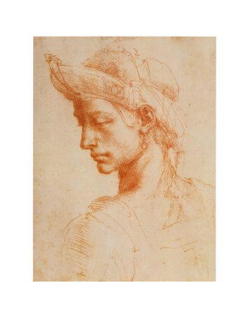 Drawing of a Woman Prints by  Michelangelo Buonarroti
