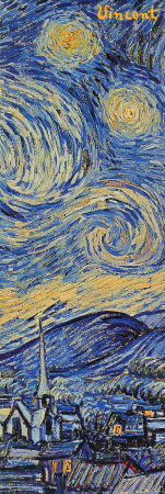 Starry Night, c.1889 (detail) Affiche