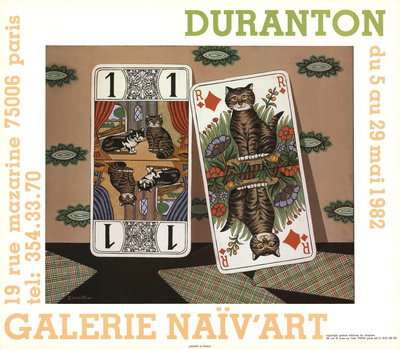 Card Cats Prints by  Duranton