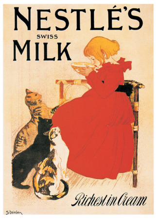 Nestle's Milk Prints by Théophile Alexandre Steinlen