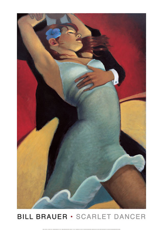 Scarlet Dancer Posters by Bill Brauer
