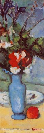 Blue Vase Posters by Paul Cézanne