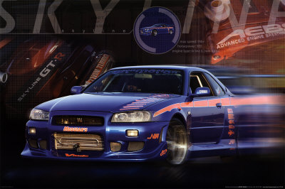 Nissan Skyline GT-R Affiche