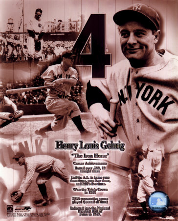 Lou Gehrig - Legends of the Game Composite - Photofile Photo