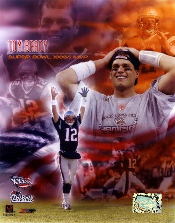 Tom Brady SB XXXVI MVP Portrait Plus Photo