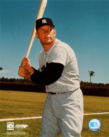 Mickey Mantle - 3 Posed Batting Photo