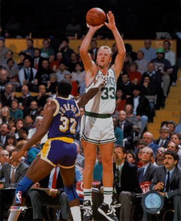 NBA Larry Bird and Magic Johnson Photo