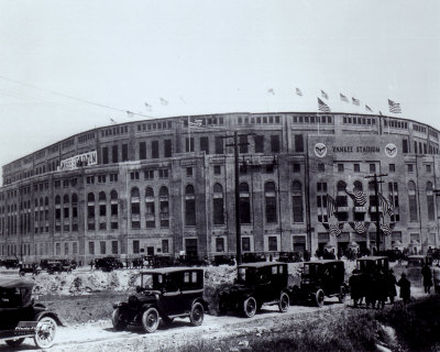 Yankee Stadium - outside/sepia - ©Photofile Photo