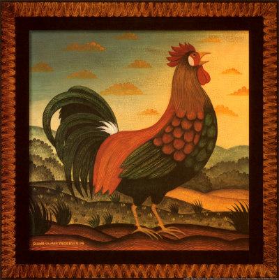 Rooster Prints by Diane Pedersen