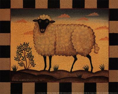 Farm Sheep Prints by Diane Pedersen