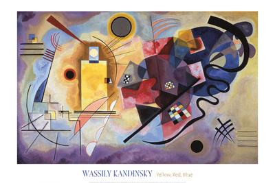 Žlutá, červená a modrá, c.1925 Umělecká reprodukce