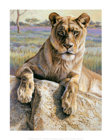 Serengeti Lioness Art by Kalon Baughan