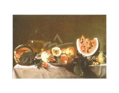 Still Life with Fruit and Carafe Kunstdrucke von Pensionante del Saraceni