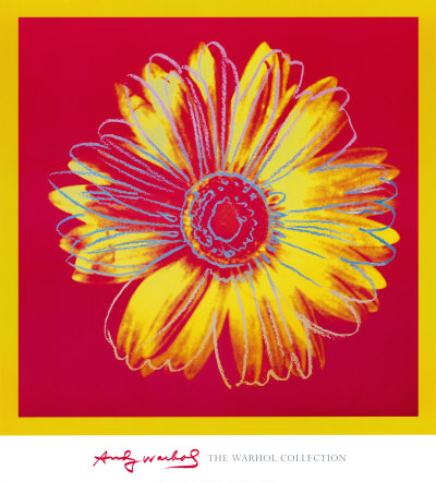 Daisy, c.1982 (Fuchsia and Yellow) Lámina