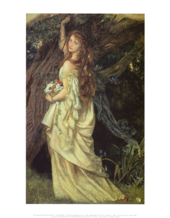 Ophelia and He Will Not Come Again, 1863-64 Art by Arthur Hughes