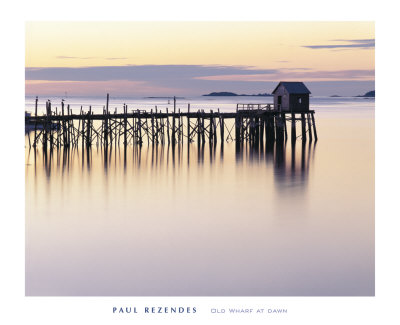 Old Wharf at Dawn Art Print