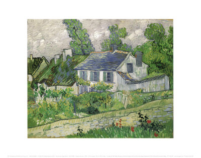 Houses at Auvers, c.1890 Posters by Vincent van Gogh