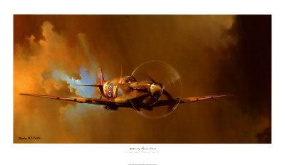 Spitfire Affischer av Barrie Clark