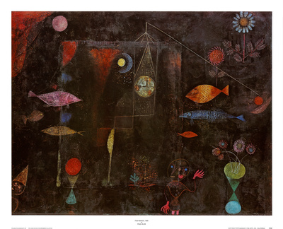 Fish Magic Affischer av Paul Klee