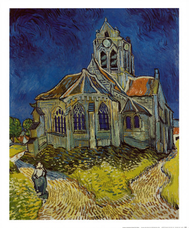 Church at Auvers, c.1890 Art Print