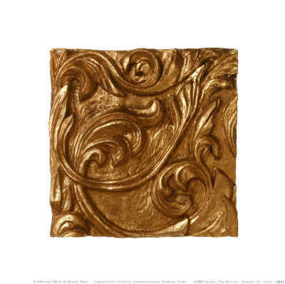 Copper Leaf Frieze Prints by George Caso