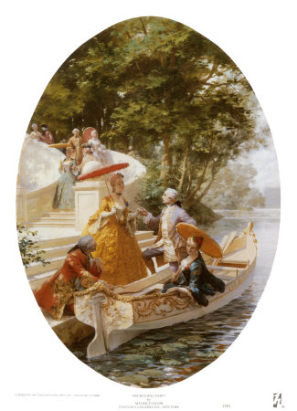 Boating Party Prints by Maurice Leloir
