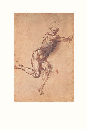 Study of a Seated Male Figure Prints by  Michelangelo Buonarroti