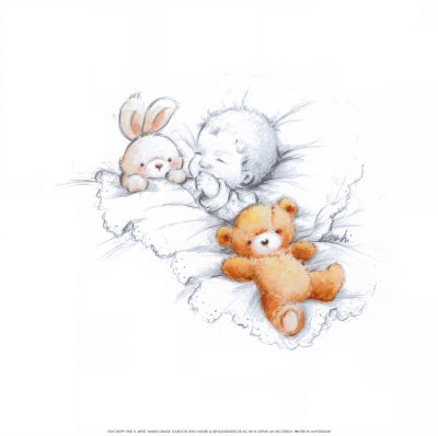 Sleepy Time IV Print by  Makiko