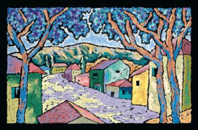Village Vista Poster by Brett Varney