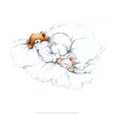 Sleepy Time III Prints by  Makiko