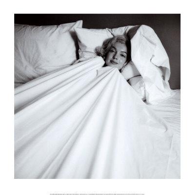 Marilyn in Bed Art by Milton H. Greene