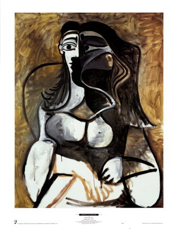 Woman in an Armchair Art by Pablo Picasso